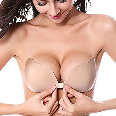 Strapless Seamless Push Up Silicone Self Adhesive Reusable Padded Invisible bra