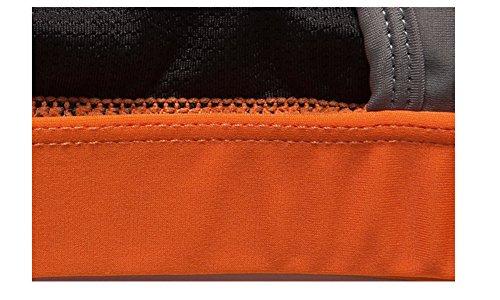 Weelly Underwear Soutien Gorge de Sport Brassière Uni Femme Orange