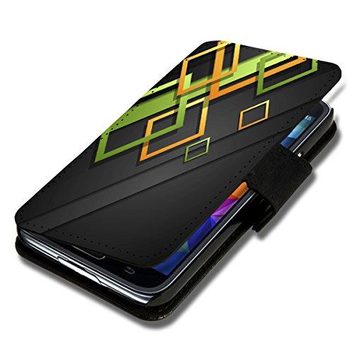 Book Style Flip Handy Tasche Case Schutz Hülle Schale Motiv Foto Etui für Wiko Ridge Fab 4G - X3 Design4