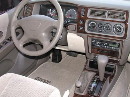 Mitsubishi Montero Sport Innen Burl Wood Dash Trim Kit Set 2001 2002 2003 2004