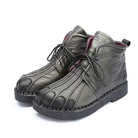Vogstyle, Damen Stiefel & Stiefeletten , - Style 1-Black Fleece - Größe: 38.5 EU