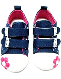 Baby Grow Kids Girl Fashion Shoes Floral Applique