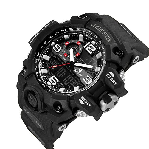 4d647838e7 Mens Digital Wrist Watch, Military Sport Analog-Digital Chronograph Watches  for Men, Big Face 56mm Waterproof LED Resin Strap ...