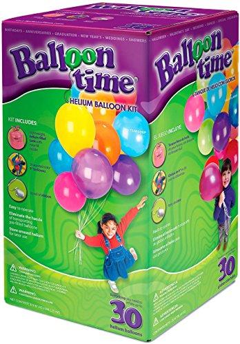 Foto de Ballon Time  Bombona de helio para globos, con 30 globos incluidos.