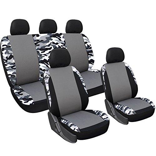 Woltu AS7309 Set Completo di Coprisedili per Auto Macchina Seat Cover Universali Protezione per Sedile di Poliestere Mimetico