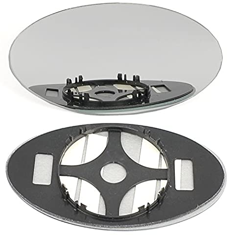 Right driver side wing door clip on mirror glass for Mini Cooper One 2001-2006 Convex