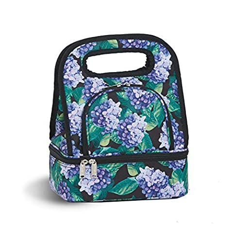 Savoy Lunch Bag - Tote With Storage Container - Hydrangea by Picnic Plus