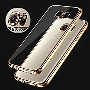 Transparent mobile cover gold chrome for Samsung Galaxy Note 5…