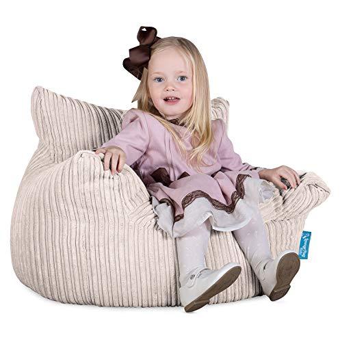 Lounge Pug®, Kindersessel Sitzsäcke, Sitzsack Kinder, Cord Creme