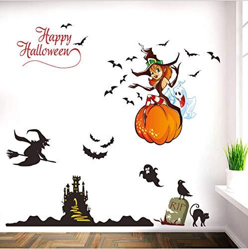asd137588 Wandtattoo Halloween-Hintergrund-Wand-Dekorations-entfernbare Wand-Aufkleber-Halloween-Dekorations-Yard-Party-Dekorations-Äußeres