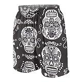 Pillow Socks Dark Folklore Skulls Sugar Skull Boys Beach Shorts Quick Dry Beach Swim Trunks Kids Swimsuit Beach Shorts,Big Boy's Casual Shorts XXL