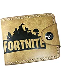 iBelly-vete Cartera de cuero de la PU con Fortnite en relieve, Cartera de