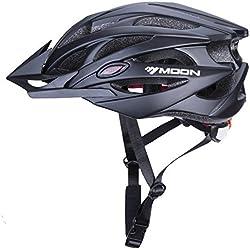 Babimax Casco de Ciclismo de Seguridad con Alta Estabilidad para Adultos y Niños Bicicleta Casco de 25 Respiraderos Seguridad con Extremadamente a Prueba de Golpes para Bicicleta (Negro, L)