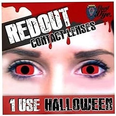 Erwachsene Herren Damen Blutige Rot Out Halloween Karneval Kosmetik Farbige Fancy Dress Eye Wear (Clown Kostüme Ziel)