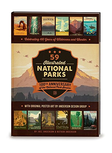 59 Illustrated National Parks - Hardcover: 100th Anniversary of the National Park Service (National Bilder Park)