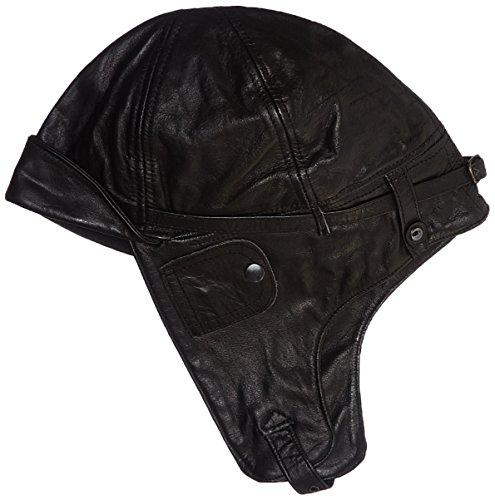 Flieger Bonnet aviateur en cuir Noir Noir - Noir