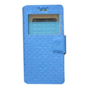 Jo Jo Cover Astro Series Leather Pouch Flip Case With Silicon Holder For Samsung Galaxy S II Exotic Blue