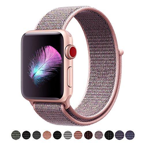 HILIMNY Für Apple Watch Armband 38MM, Ersatz für iwatch Series 3, Series 2, Series 1 (Sandrosa, 38MM)