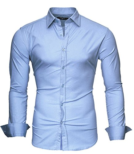 Kayhan uni camicia slim fit, skyblue (s)
