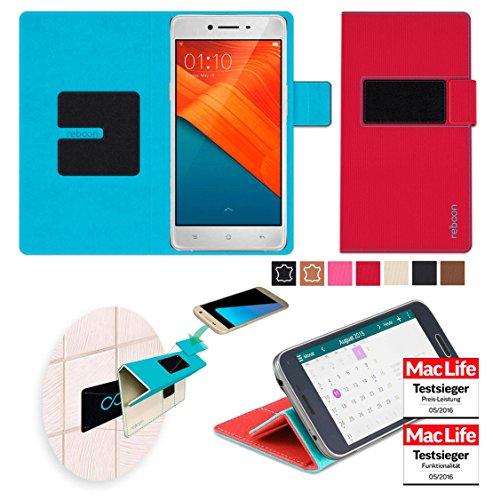 reboon Hülle für Oppo R7 Lite Tasche Cover Case Bumper | Rot | Testsieger