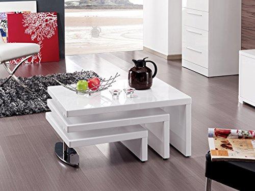 Habitat et Jardin - Table Basse Design Elysa en MDF Laque Blanc - 80 X
