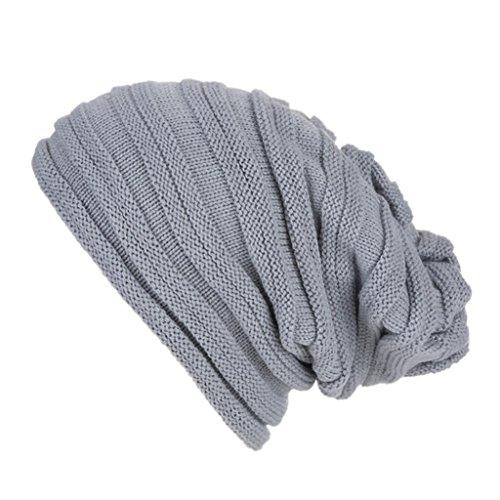 Unisex Knit Hüte, CICIYONER Häkeln Sie Ski Mütze Schädel Slouchy Caps Winter (Unisex, Gray (Die Hütte Kostüme Party)