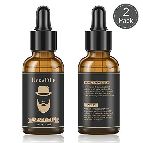 Bartöl Bartpflege mit Vegane Bio Naturkosmetik für Herren 30ml (2 Set)