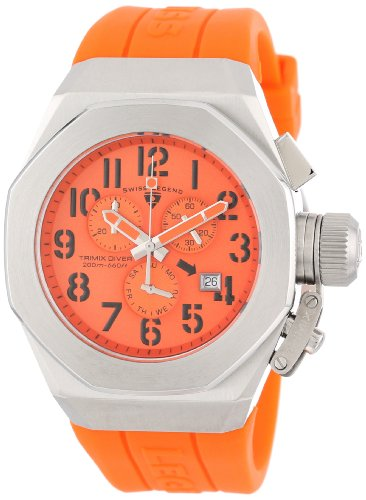 Swiss Legend Trimix Diver 10542-06-ORG mm Stainless Steel Case Orange Rubber Sapphire Crystal Men's Watch