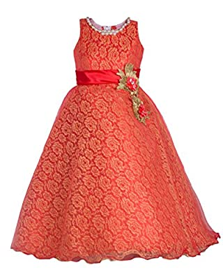 My Lil Princess Girls' Net & Satin A-Line Dress