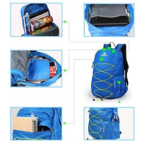 YYY-ULTRA LIGHT pieghevole pelle borsa all'aperto alla moda multi - funzionale in nylon sport borsa pieghevole , gray gray