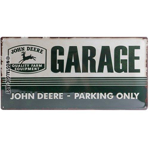 Nostalgic-Art 27013 John Deere - Garage, Blechschild 25x50 cm