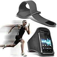 ( Grau ) Doogee F7 (5,5-Zoll) (5Zoll) bei hoher Qualität ausgestattet, Armbinden Sport Laufen Radfahren Bike Fitness Jogging befreien Armband hülle, Case von i-Tronixs