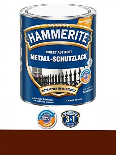 750 ml Hammerite Direkt auf Rost Metall-Schutzlack Braun, Glanz