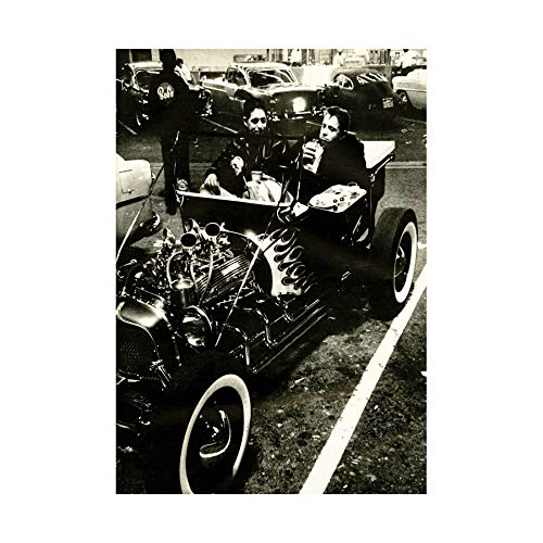 Vintage Transport HOT Rod Engine Motor CAR Black Framed Art Print B12X10416 (Rod Motor Verpackung)