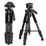 Camera Tripod, Portable Professional Light Weight Traveler Tripod with Pan Head for Camera DSLR DV Canon Nikon Sony,Black