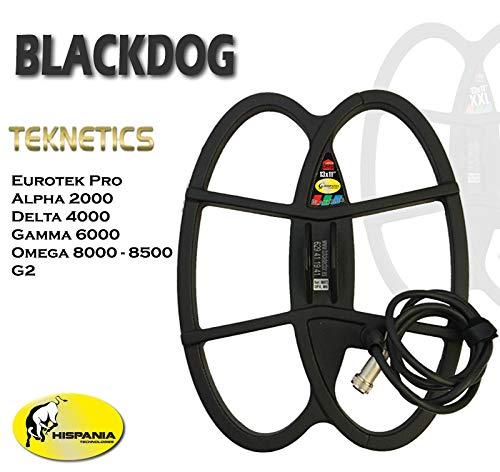 Hispania Technologies Plato Black Dog para Detector de Metales Teknetics Alpha, Gamma, Delta, G2 y Eurotek Pro