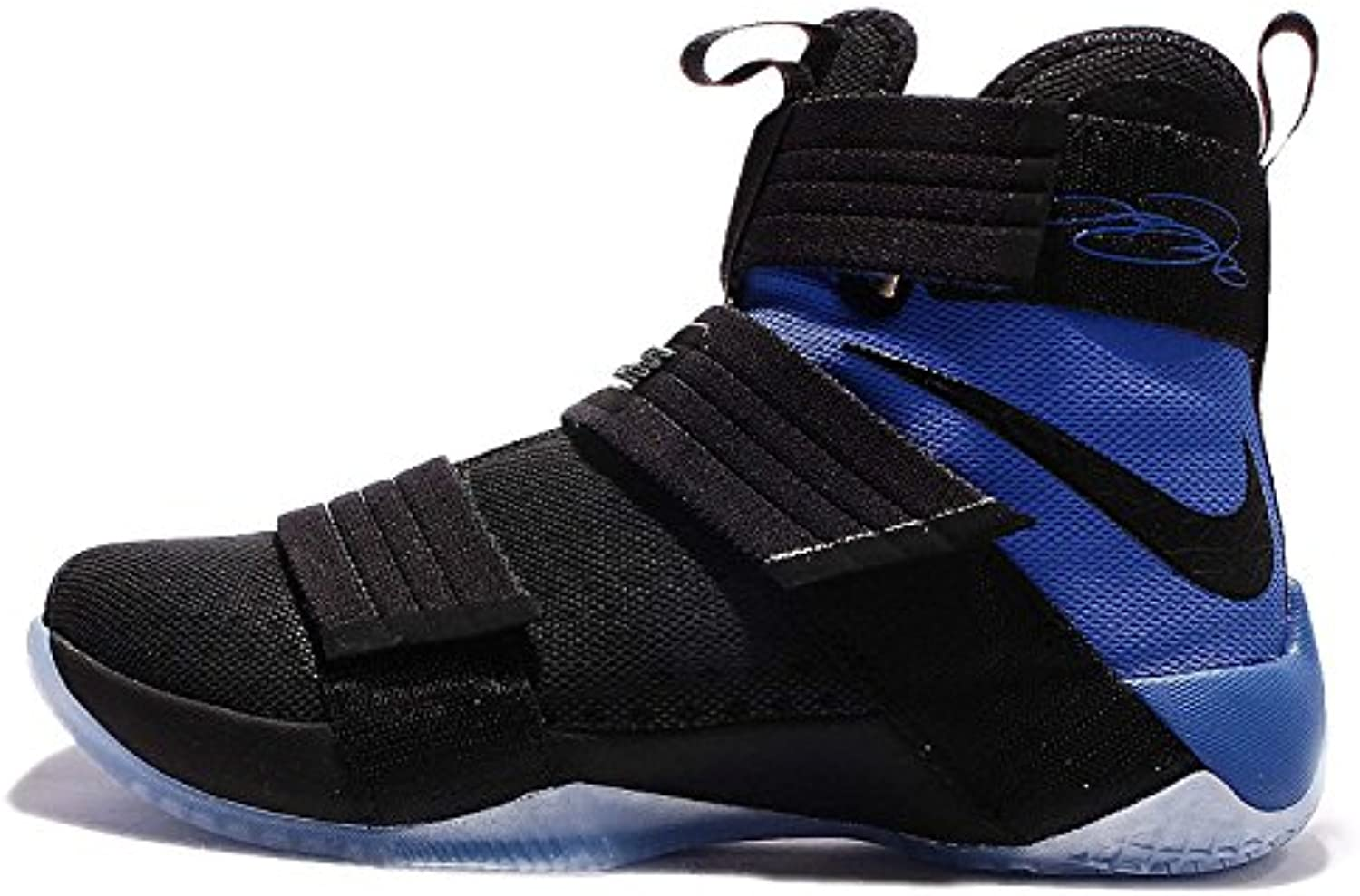 Nike Lebron Soldier 10 Mens Basketball Shoes, Black/Black-game Royal, 44 D(M) EU/9 D(M) UK