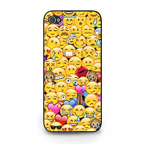 Emoji Iphone 5c Case Cool Smiley Faces Emoji Phone Case Cover for Iphone 5c Emoticons Funky Design Color156d