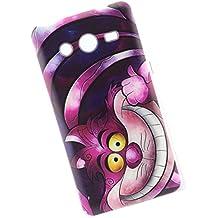 Cuitan Durable TPU Suave Funda Case para Samsung Galaxy Core 2 G355H, Calidad premium Anti-rasguños Back Cover Moda Protector Case Cover Carcasa Funda Caso para Samsung Galaxy Core 2 G355H - Gato Divertido