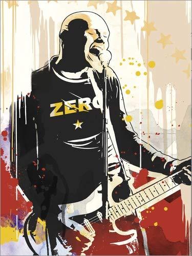 Poster 30 x 40 cm: Billy Corgan Smashing Pumpkins Art von 2ToastDesign - Hochwertiger Kunstdruck, Kunstposter