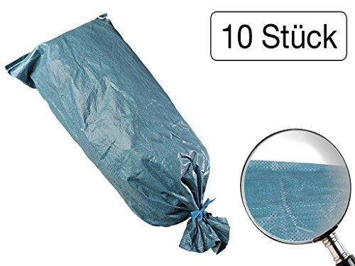 10 Stück Sandsäcke aus robusten Gewebe mit Bindeband