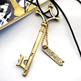CoolChange collana di Attacco dei Giganti con chiave in metallo