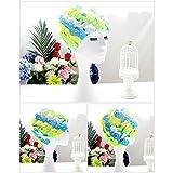 Gefaltete Badekappe Floral Hot Spring Urlaub Badekappe elastische Badehaube /...