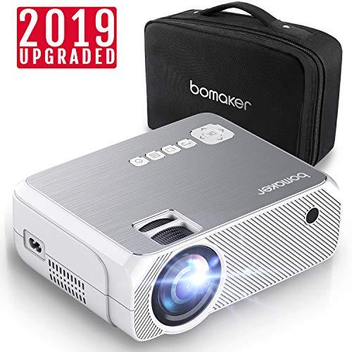 Proiettore, mini proiettore portatile 3600 lumen, bomaker videoproiettore risoluzione nativa hd, portatile lcd per casa /viaggio/estero, compatibile android / ios / ps4 / tv box