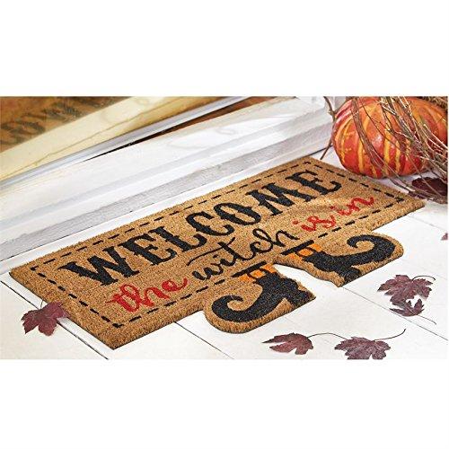 Hexe ist in Halloween Kokosmatte–45,7x 76,2cm–Hexe Beine–Neuheit Urlaub outdoor Decor–Art. # 168008 (Halloween-dekorationen Hexen Beine)