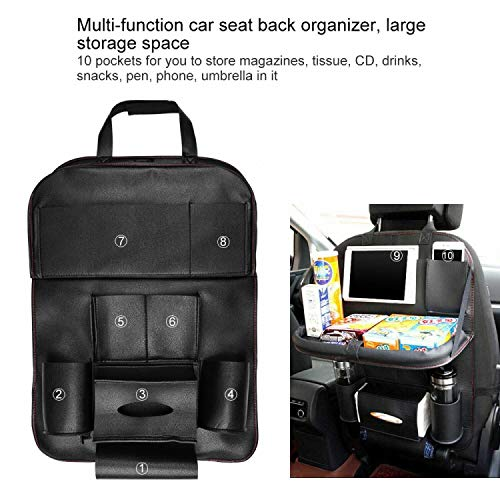 Leder Autositz Zurück Lagerung Multifunktions Organizer Protector Faltbares Regal -