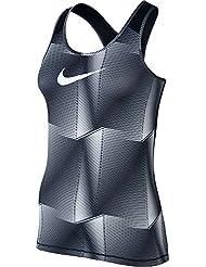 Nike W Np Cl Pyramid Camiseta sin Mangas, Mujer, Negro (Black / White), M