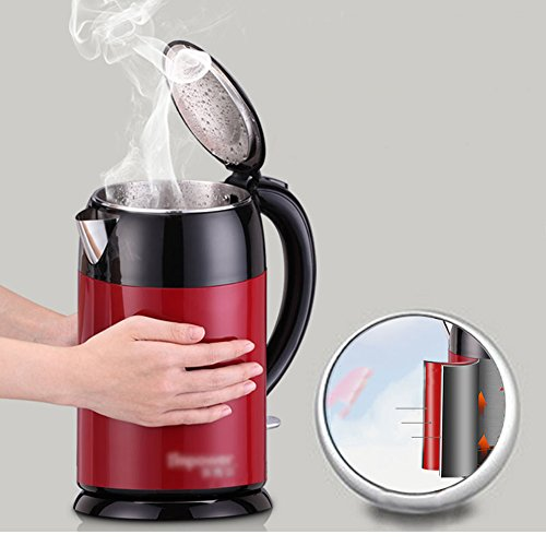 Kettle FEIFEI Stainless Steel Insulation Electric Automatic Power-off Beautiful Fashion 2.0L 1800W Portable Home Travel Easy to move