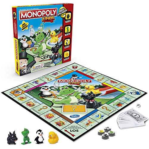Hasbro Monopoly - Junior, der Klassiker der Brettspiele für Kinder, Familienspiel, ab 5 Jahren