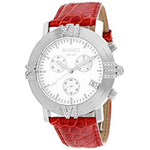 Roberto Bianci Women's Medellin Diamond 44mm Red Swiss Quartz Watch RB18492